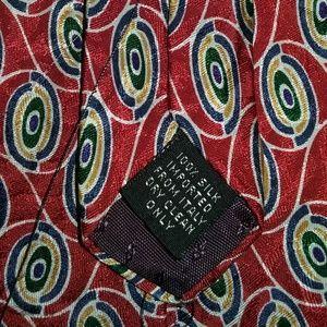 100% silk tie by BASS , EUC